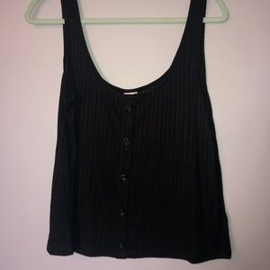Black tank top with buttons